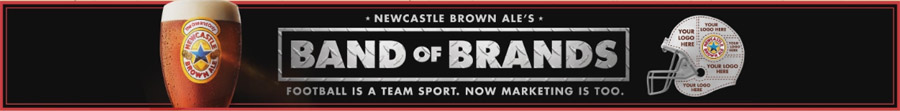 Newcastle superbowl band of brand logo