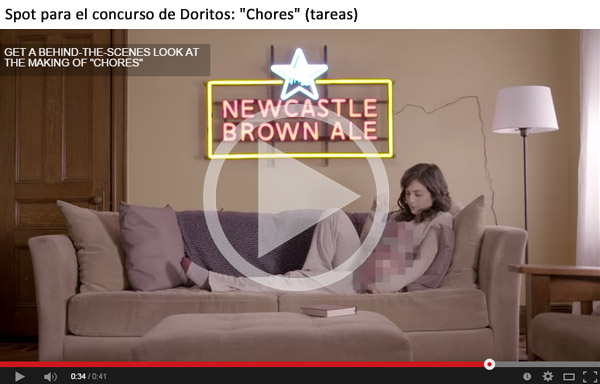Newcastle superbowl tareas Doritos